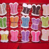 Corset Cookies Scottish Shortbread cookies with royal icing and I also used the food color markers. I couldn't find a corset shape that I likes, so I...