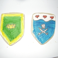 Medieval Heraldic Cookies Scottish shortbread with royal icing, decorated with food color markers. I made these cookies depicting the devices (coat of arms) of...