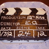 Movie Director Cake This is the 1st cake I ever decorated. Made it for a movie night gathering. Chocolate cake with buttercream frosting.