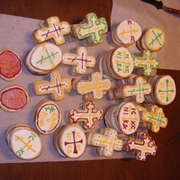 Orthodox Easter Shortbread Cookies Scottish shortbread cookies decorated with royal icing. Made for Russian Orthodox Easter
