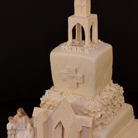 First Communion Cake -Church FIRST COMMUNION CHURCH CAKE -all edible and made by me :)