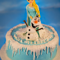 Elsa...frozen Cake .....all Edible And Handmade:) Elsa...Frozen Cake .....all edible and handmade:)