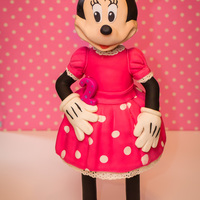 Minnie Mouse 3D Cake :) Minnie Mouse 3D cake all edible and hadndmade by me ....cake is pretty big and tall about 32 inches tall /about 80 cm ....hope you like it...