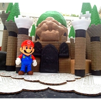 Bowser Castle Cake // Super Mario Brothers  this a bowser castle cake i did for my little brother. It has three different tiers, the top tier is my special red velvet cake and filled...