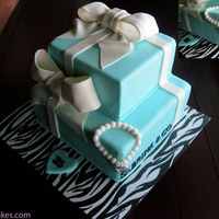 Tiffany Gift Boxes Tiffany blue gift box cake