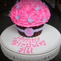 Simple And Sweet Giant Cupcake Cake Simple and sweet Giant Cupcake Cake