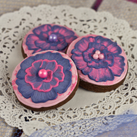 Chocolate Cookies With Raspberry Icing Say goodbye to boring sugar cookies with this delicious recipe for chocolate cookies with raspberry flavored royal icing.