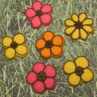 Cookie Press Flower Cookies