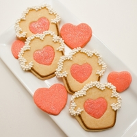 Cupcake Cookies With Heart Centers
