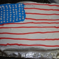 Memorial Cake Red, White and Blue