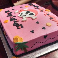 Pink Pirate Birthday Cake *Pink Pirate Birthday Cake