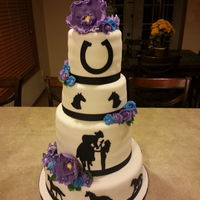 Horse Themed Wedding Cake Horse themed wedding cake.