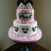 Minnie Mouse Inspired First Birthday Cake