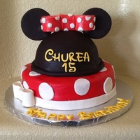 2 Cakes Minnie Mouse Fondant 2 cakes, Minnie Mouse, fondant