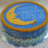 Moon And Stars For Sleepover Party All buttercream