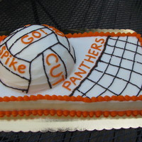 Orange High School Panthers Volleyball Cake Orange High School Panthers Volleyball cake, vanilla cake with raspberry and whipped cream filling. Decorations all buttercream