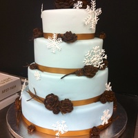 Winter Wonderland Wedding Cake 4 tier round Winter wonderland wedding cake