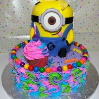 I Was Really Excited To Do My First Minion Cake I was really excited to do my first minion cake!