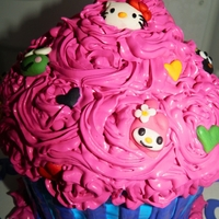 Hello Kitty Sanrio Smash Cake Hello kitty & some of her friends hanging out on a smash cake with a LOT of frosting. Cake is also brightly colored. Can't wait to...