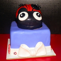 Lady Bug Bow Purple Girly Cake A First Anniversary cake for a very excited wifey!