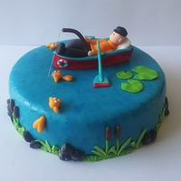 Gone Out Fishing A cake for a man who really like fishing, It's a cake from the new book of Wendy Schlagwein.