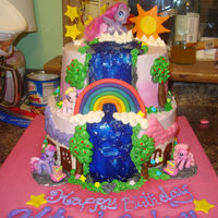 My Little Pony Water Fall Birthday Cake