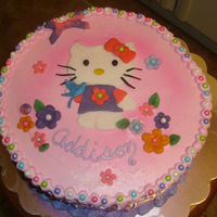Hello Kitty Birthday Cake With Flowers Cute Hello Kitty Cake I made for Little Girls Birthday--- Made Hello Kitty