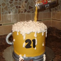 Beer Mug Birthday Cake My step sons 21st birthday cake