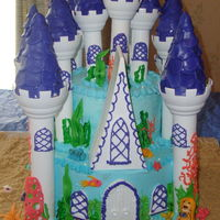 Mermaid Underwater Ocean Sea Castle Cake My daughters 5th birthday cake