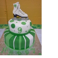 St. Patty's Day/birthday Cake My step-daughter wanted a St. Patty's day/Ice Skate/Birthday cake! Her birthday is on St. Patty's day and we celebrated at an ice...