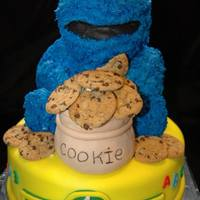 Cookie Monster Cake *
