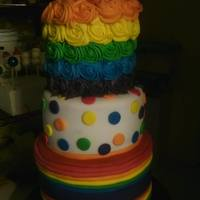 Rainbow Birthday Cake *rainbow birthday cake