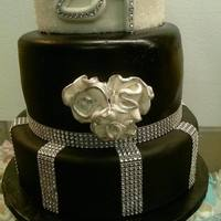 Bling Black And Whites Cake *bling black and whites cake