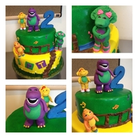 Barney & Friends Birthday Cake