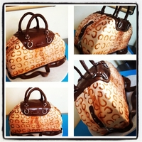 Coach Inspired Purse Cake