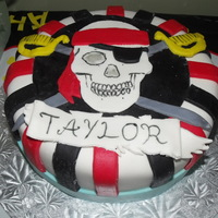"Pirate Party  My son's 6th bday cake. We had a ""Pirate and Pixies"" themes party. A family member has their birthday close to my son's..."