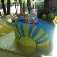 Angry Birds 4Th Birthday!   Angry Birds cake for my sons 4th birthday!