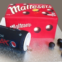Malteser And Pepsi Cake Maltesers and Pepsi cake. Everything edible including the can
