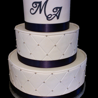 Monogram Wedding Cake This is my third wedding cake. The bride wanted to keep it simple