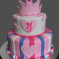 Princess Tiara Cake Perfect for a little princess.