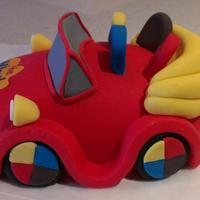 Wiggles Big Red Car Cake Topper