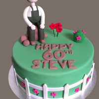 60Th Birthday Garden Cake Special cake for a keen gardener. Used a tip to create the leafy look on the bush and was happy with the result. Happy 60th Steve