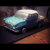 55 Chevy Car Cake My Uncle used to restore 55 Chevys, and 55 was his lucky number, so for his 55th birthday I made him this cake! Only my 3rd cake ever made...