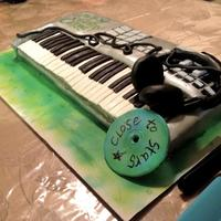 Synthesizer Keyboard Cake Synthesizer Keyboard Cake