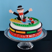 Mr. Monopoly Birthday Cake Mr. Monopoly, or rich Uncle Pennybags takes center stage in this board game-themed cake. A turtorial for making the fondant figurine is...