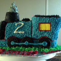 Thomas The Tank Engine Cake 3D Thomas carrot cake.