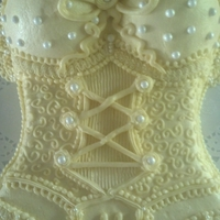 Lingerie Shower Cake Made from scratch yellow cake with all butter buttercream icing and decorations. 9x13 cut to shape.