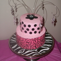 "This Cake Was Made For A 7 Yr Old Diva For Her Birthday The Bottom Layer Is A Double Layer 8 Vanilla Cake With Strawberry Custard Fill This cake was made for a 7 yr. old ""Diva"" for her birthday. The bottom layer is a double layer 8"" vanilla cake with..."