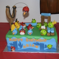 Angry Birds Snicker Doodle cake and filling http://www.faithfulconfections.com/2012/04/angry-birds-cake.html