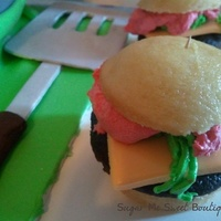 Edible Spatula And Cupcake Sliders   Edible spatula and cupcake sliders